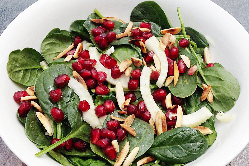 Pomegranate Salad with Fennel and Toasted Almonds - Insulin Resistance ...