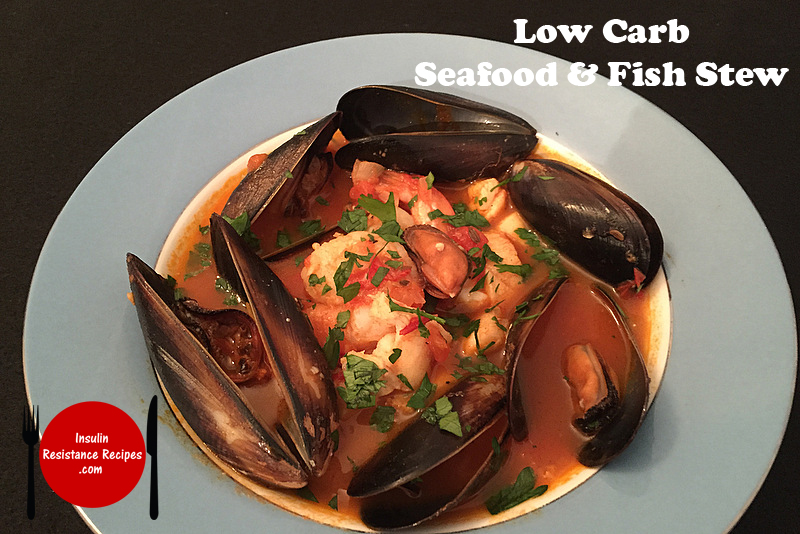 Low carb seafood and fish stew insulin resistance diet for Low carb fish breading