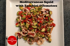Mediterranean Squid with Zucchini and Tomatoes