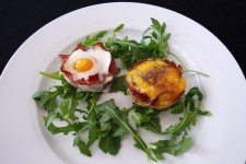 Basturma Egg Cups - Two Ways
