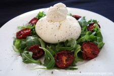 Burrata with Rocket and Cherry Tomatoes