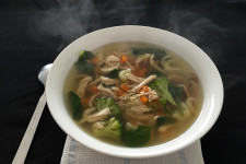 Low Carb Chicken and Vegetable Zoodle Soup