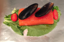 Baked Salmon and Mussels in Foil